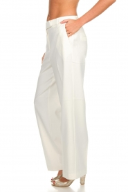 Aaiko |  Classic trousers Calida | white  | Picture 4