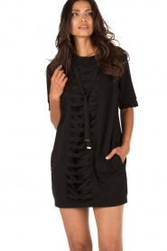 ELISABETTA FRANCHI |  Tunic dress Benissimo | black  | Picture 2