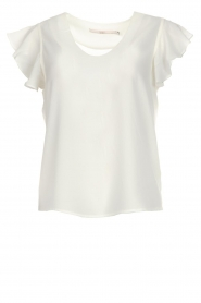 Aaiko |  Top with ruffle sleeves Deno | white  | Picture 1