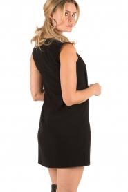 ELISABETTA FRANCHI | Lace-up jurk Ballare | Zwart  | Afbeelding 5