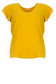 Aaiko |  Top with ruffle sleeves Deno | ochre yellow  | Picture 1