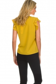 Aaiko |  Top with ruffle sleeves Deno | ochre yellow  | Picture 5