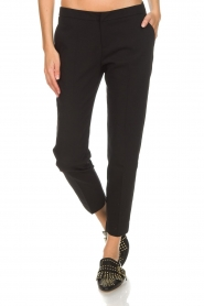 Aaiko | Klassieke pantalon Parene | zwart  | Afbeelding 3