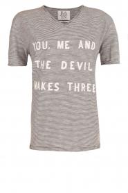 Zoe Karssen | T-shirt Youme | zwart en wit   | Afbeelding 1