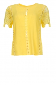 Aaiko |  Top with lace details | yellow  | Picture 1
