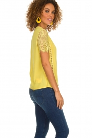 Aaiko |  Top with lace details | yellow  | Picture 5