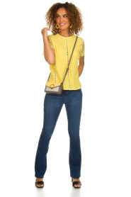 Aaiko |  Top with lace details | yellow  | Picture 3