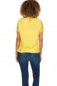 Aaiko |  Top with lace details | yellow  | Picture 6