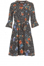 Aaiko |  Dress with print Fylene | black  | Picture 1