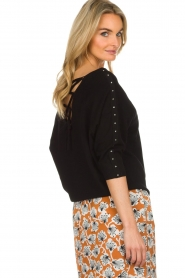 Aaiko |  Top with crossed detail on the back Valencia | black  | Picture 5