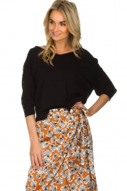 Aaiko |  Top with crossed detail on the back Valencia | black  | Picture 2