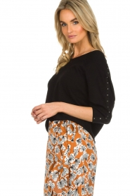Aaiko |  Top with crossed detail on the back Valencia | black  | Picture 4