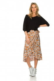 Aaiko |  Top with crossed detail on the back Valencia | black  | Picture 3
