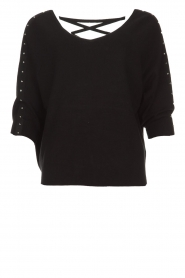 Aaiko |  Top with crossed detail on the back Valencia | black  | Picture 1