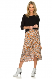 Aaiko |  Midi skirt with print Isadee | camel  | Picture 3