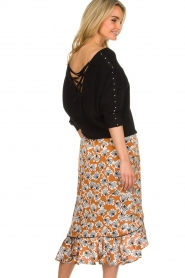 Aaiko |  Midi skirt with print Isadee | camel  | Picture 5