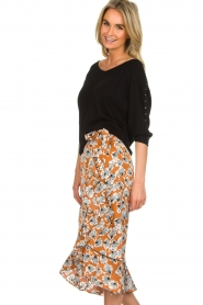 Aaiko |  Midi skirt with print Isadee | camel  | Picture 4