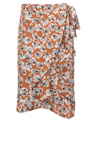 Aaiko |  Midi skirt with print Isadee | camel  | Picture 1