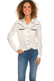 Aaiko |  Blouse Finou | white  | Picture 2