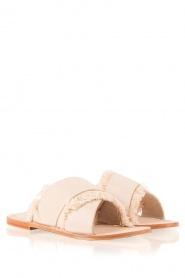 Antik Batik |  Leather flip-flops Alba | nude  | Picture 3