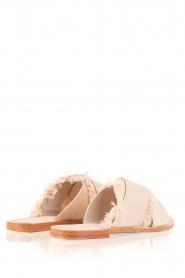 Antik Batik |  Leather flip-flops Alba | nude  | Picture 4