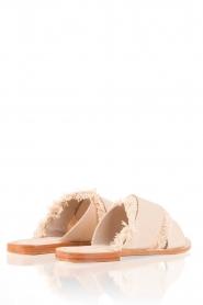 Antik Batik | Leren slippers Alba | nude  | Afbeelding 4