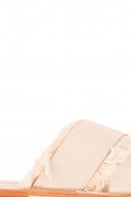Antik Batik | Leren slippers Alba | nude  | Afbeelding 6