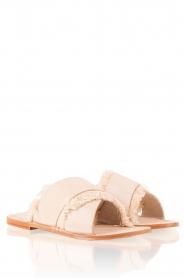 Antik Batik | Leren slippers Alba | nude  | Afbeelding 3