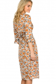 Aaiko |  Dress with print Inez | camel  | Picture 5