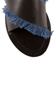 Leather flip-flops Alba | blue