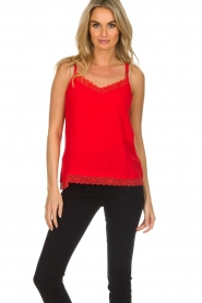 Aaiko |  Sleeveless top with lace Vlint | red  | Picture 2