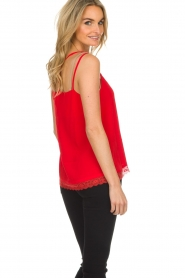 Aaiko |  Sleeveless top with lace Vlint | red  | Picture 5