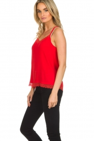 Aaiko |  Sleeveless top with lace Vlint | red  | Picture 4