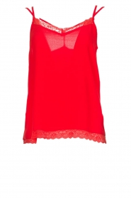 Aaiko |  Sleeveless top with lace Vlint | red  | Picture 1