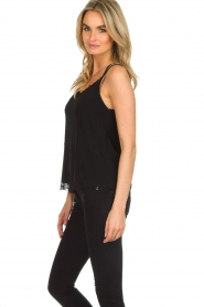 Aaiko |  Sleeveless top with lace Vlint | black  | Picture 3