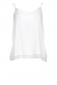 Aaiko |  Sleeveless top with lace Vlint | white