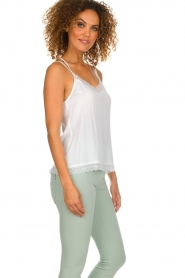 Aaiko |  Sleeveless top with lace Vlint | white  | Picture 4