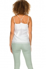 Aaiko |  Sleeveless top with lace Vlint | white  | Picture 5