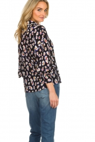 Aaiko |  Blouse with coloured panther print Amaia | multi  | Picture 5