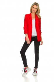 Aaiko |  Blazer with belt Celina | red  | Picture 6