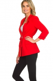 Aaiko |  Blazer with belt Celina | red  | Picture 4