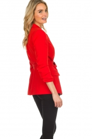 Aaiko |  Blazer with belt Celina | red  | Picture 5
