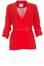 Aaiko |  Blazer with belt Celina | red  | Picture 1