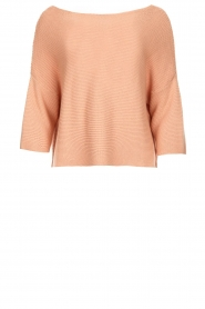 Aaiko |  Cotton knitted sweater Chena | nude  | Picture 1