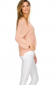Aaiko |  Cotton knitted sweater Chena | nude  | Picture 5