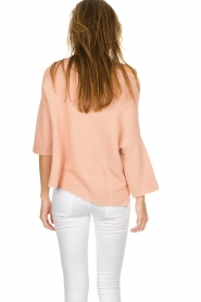 Aaiko |  Cotton knitted sweater Chena | nude  | Picture 6