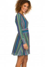 Aaiko |  Dress with colourful print Yael | multi  | Picture 4