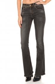 Lois Jeans | Flared jeans Melrose lengtemaat 34 | donkergrijs  | Afbeelding 2