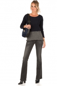 Flared jeans Melrose length size 34 | dark grey