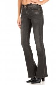 Lois Jeans | Flared jeans Melrose lengtemaat 34 | donkergrijs  | Afbeelding 4